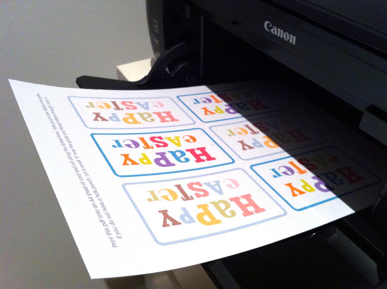 Free printable easter gift tags!  