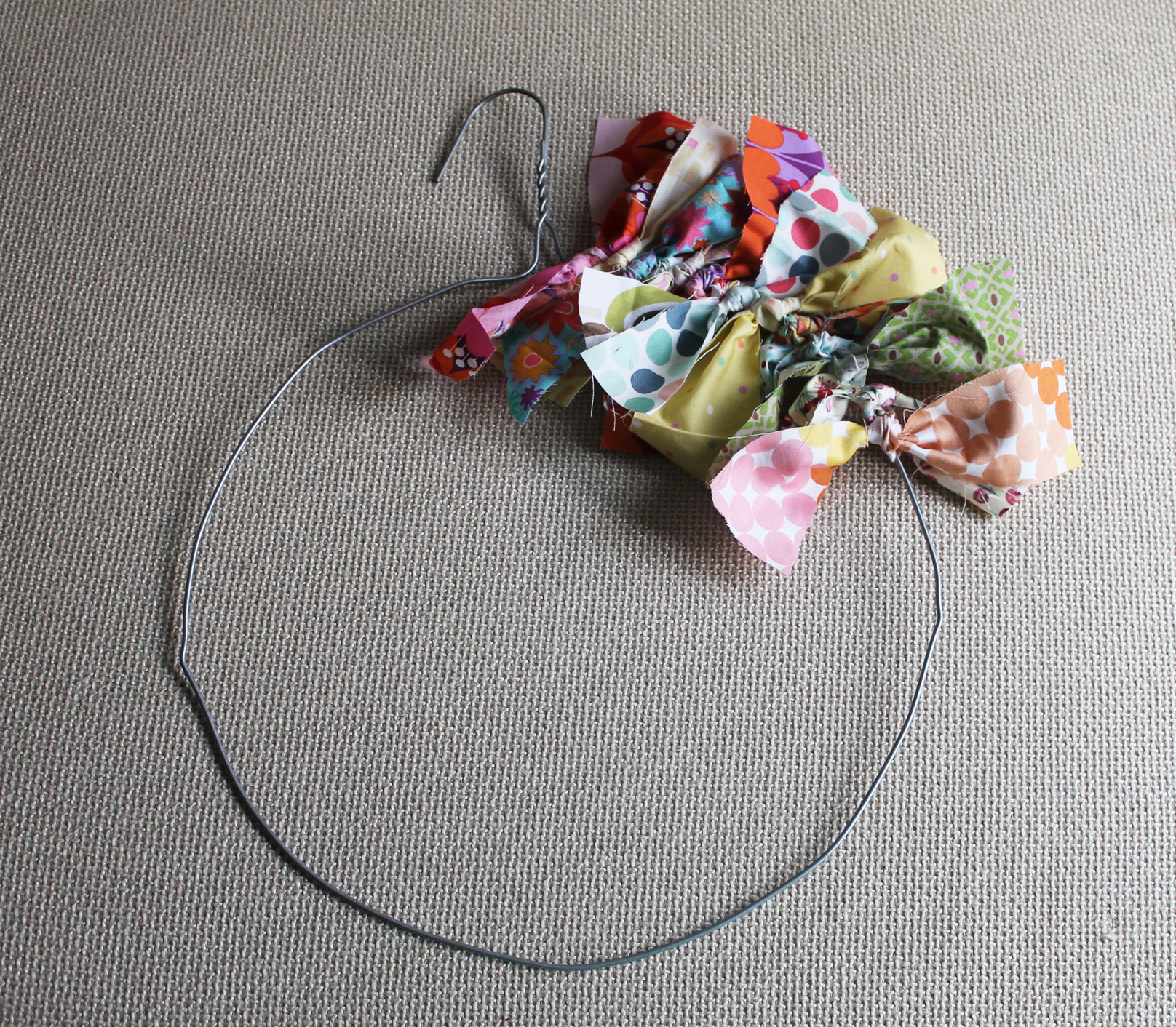 Diy rag wreath Making wreaths