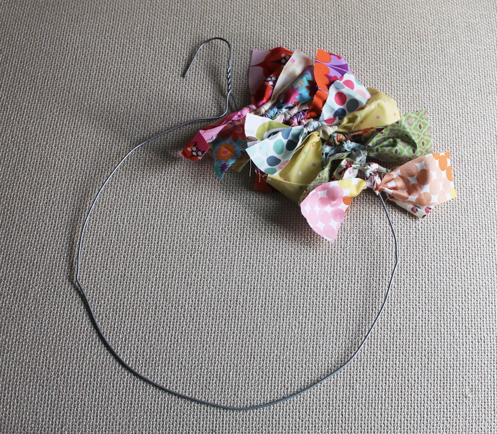 Diy rag wreath Making wreaths