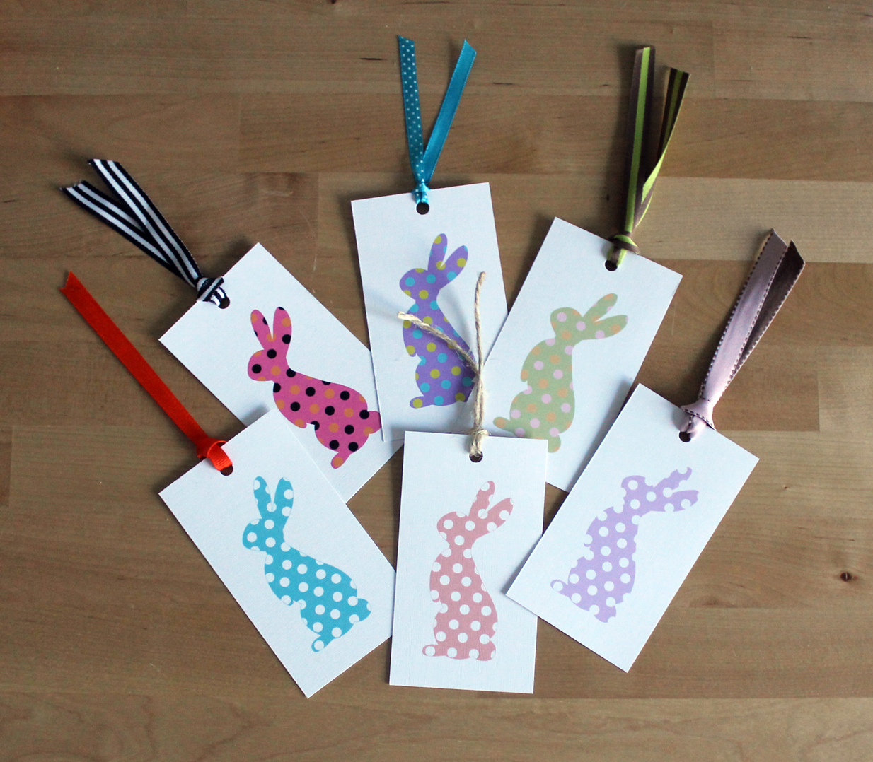 Free printable easter bunny gift tags negle Choice Image